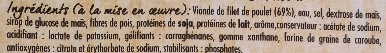 Rôti de filet de poulet cuit Nature - Ingrédients - fr