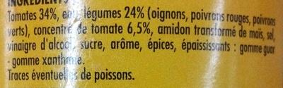 Sauce fajitas - Ingrediënten