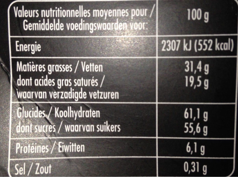 Chocolat blanc eclats de speculoos - Informations nutritionnelles - fr