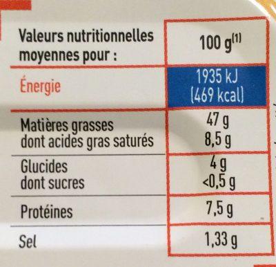 Foie de Morue - Netto - Nutrition facts