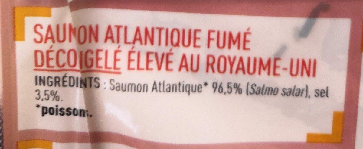 saumon fumé ecosse - 75g - Ingredients - fr