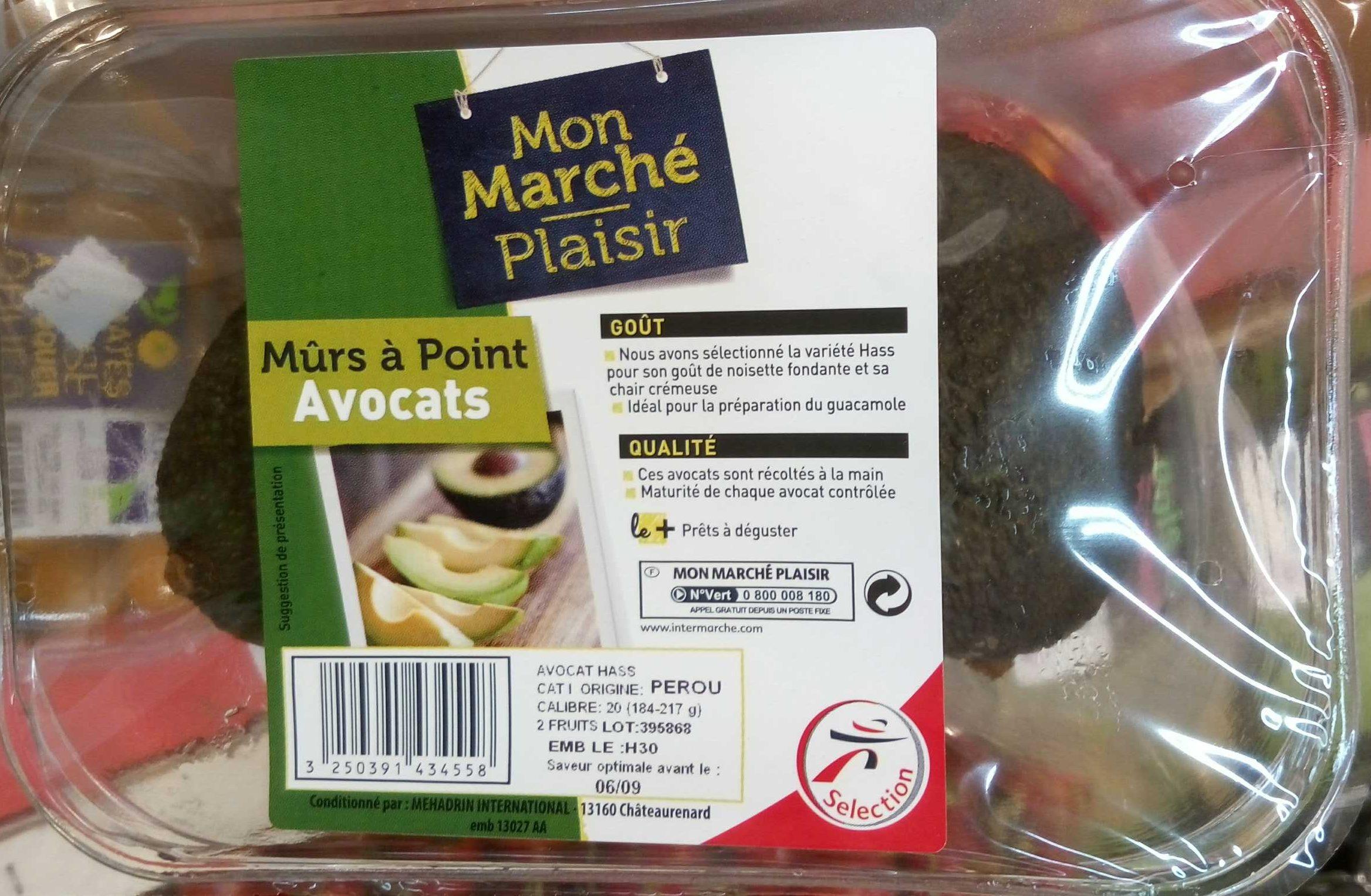 Avocats mûrs à point - Product