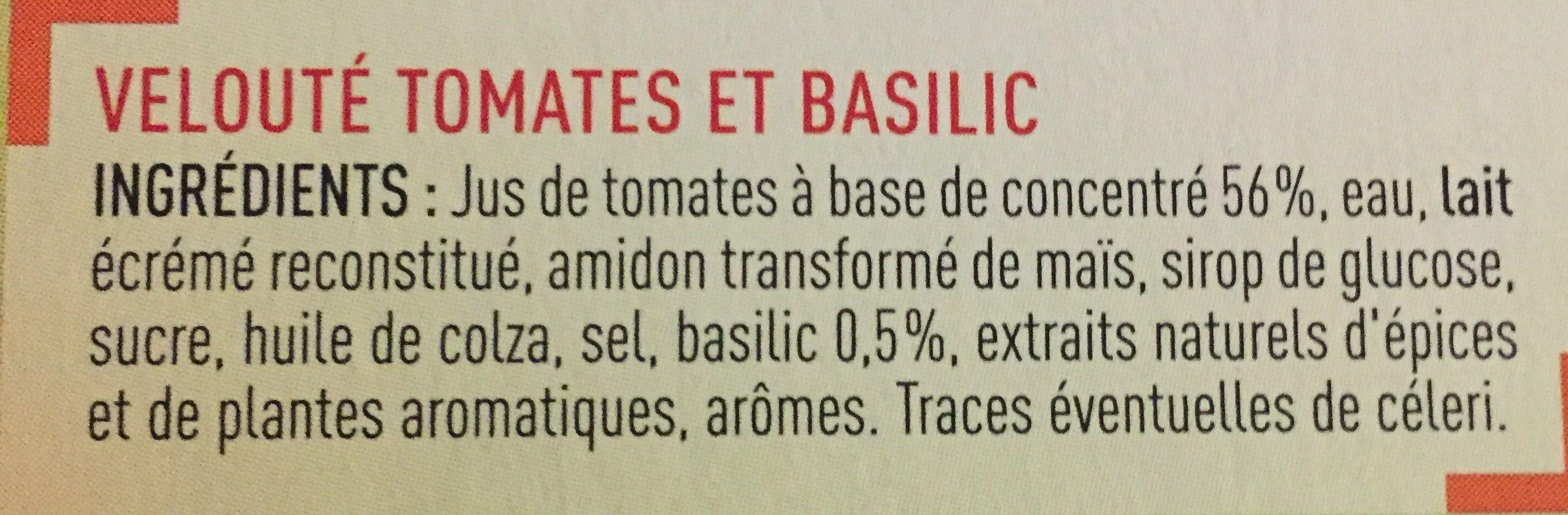 Veloute tomates basilic - Ingredients