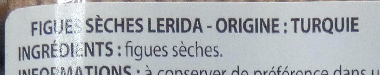 Figues Lerida - Ingredients - fr