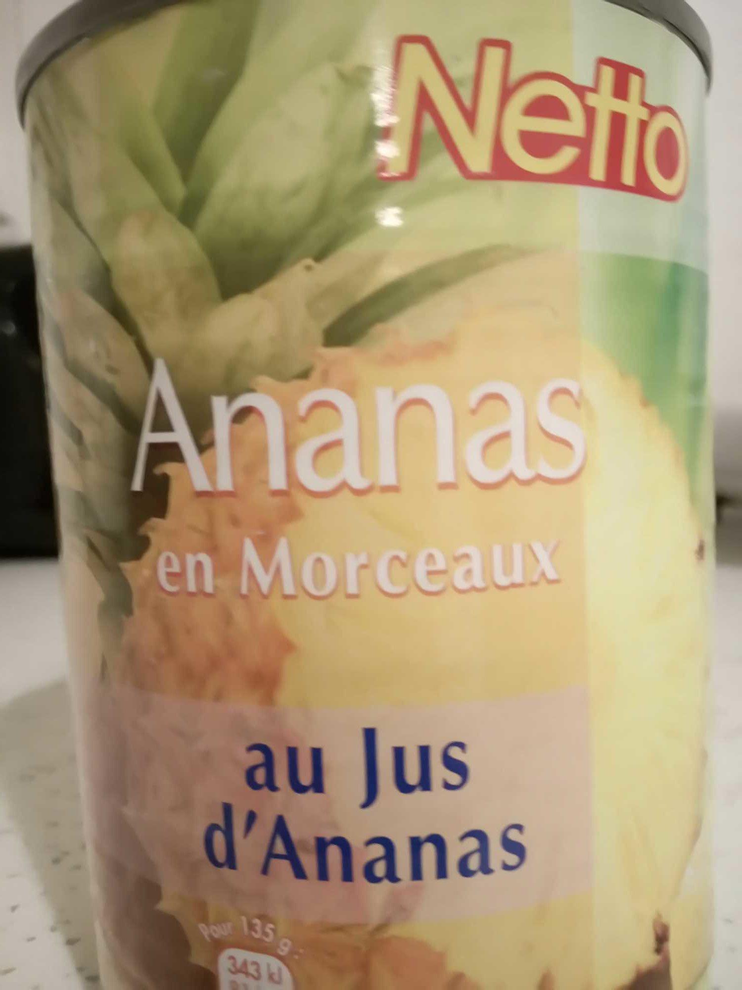 Ananas en morceaux au jus d''ananas - Product - fr