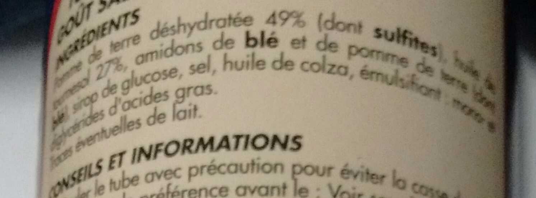 Tuiles salées - Ingredients