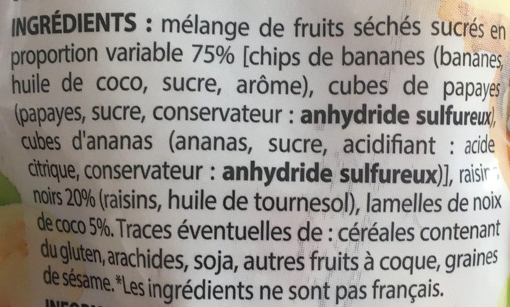 Mélange exotique - Ingrediënten