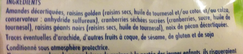 Melange gourmand - Ingrédients
