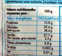 Melange gourmand - Informations nutritionnelles
