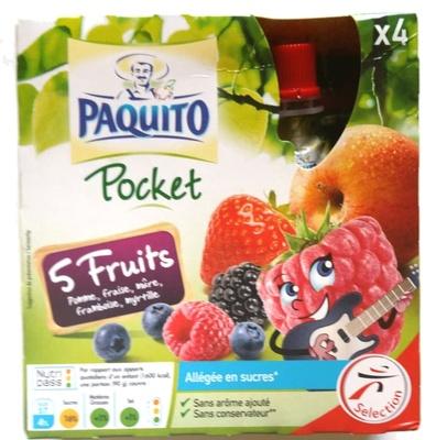 Pocket 5 Fruits - Produit