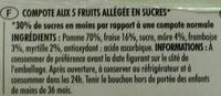 Pocket 5 Fruits - Ingrédients