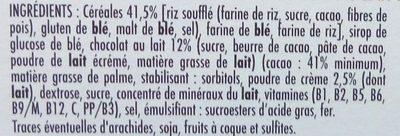 Mixi Céréales & Chocolat au lait - Ingrediënten - fr