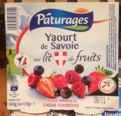Yaourt de Savoie sur lit de fruits - Product