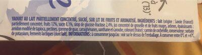 Yaourt de Savoie sur lit de fruits - Ingrediënten