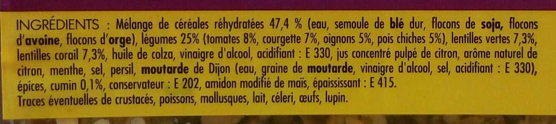 Salade de Céréales à l'orientale - Ingrediënten - fr