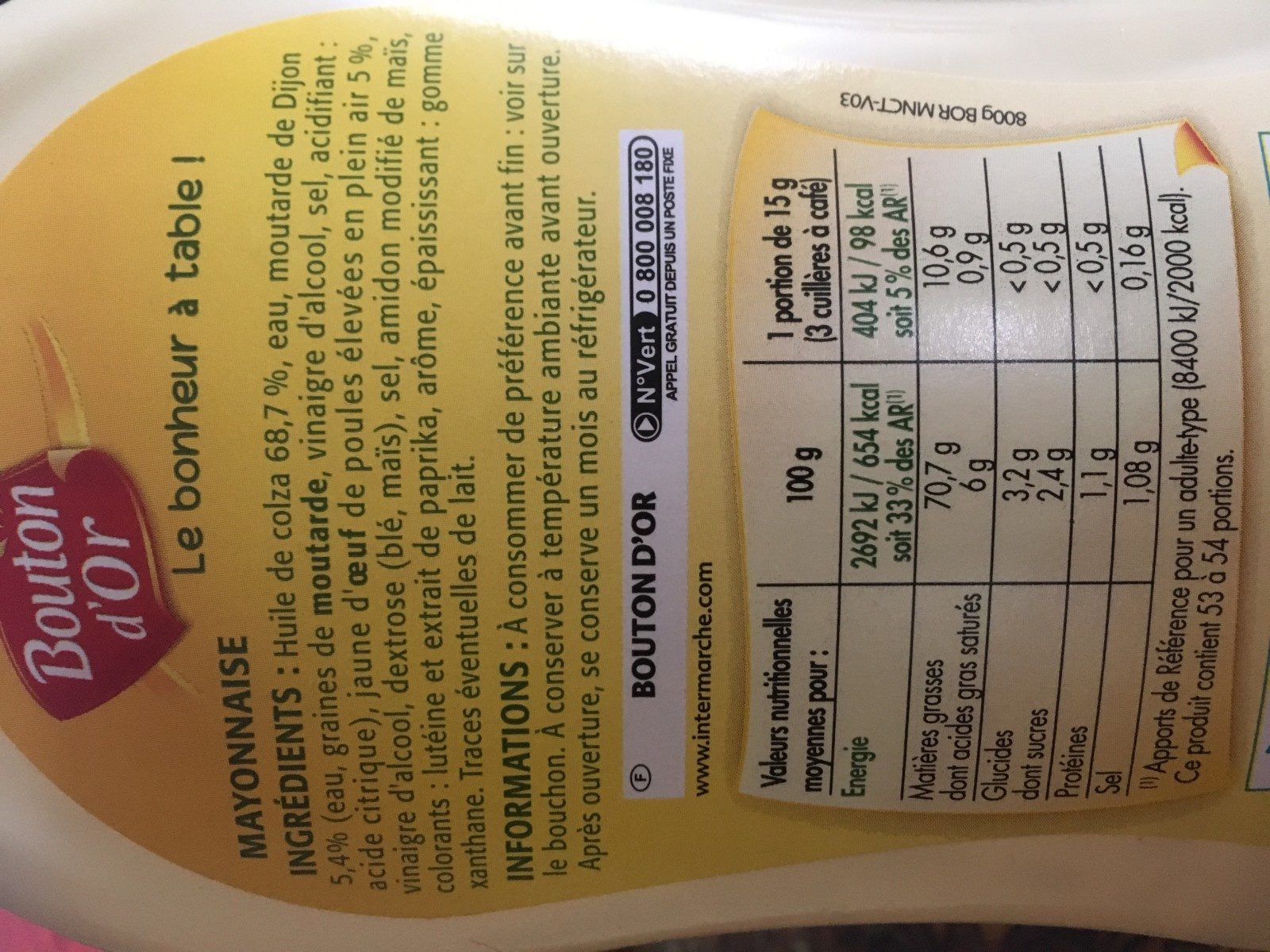 Mayonnaise - Ingrédients - fr