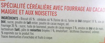 Cereales fourrées - Ingredients - fr