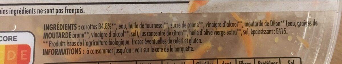 Carottes Râpées - Ingredients - fr