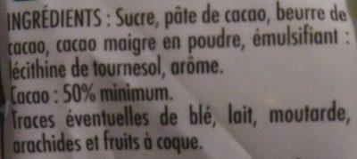 Pépites de Chocolat - Ingredients