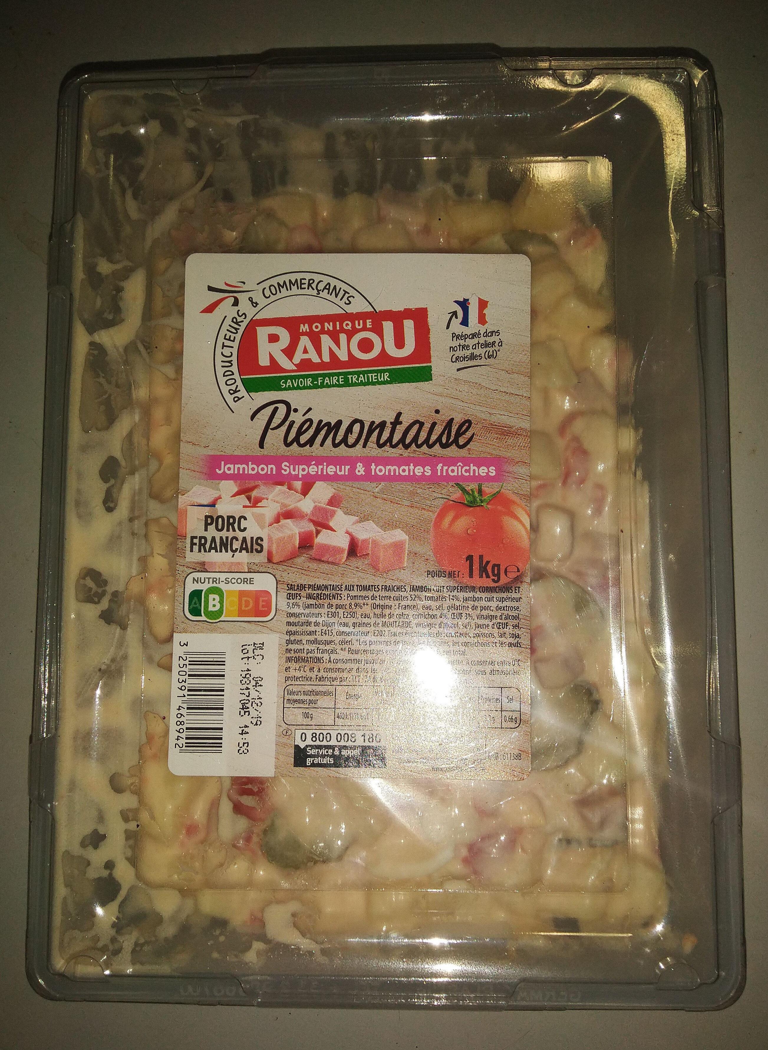 Piémontaise - Jambon Supérieur & tomates fraîches - Produit