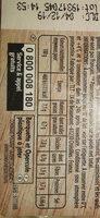Piémontaise - Jambon Supérieur & tomates fraîches - Informations nutritionnelles