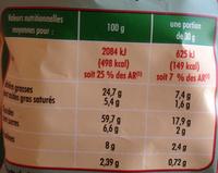 Craquilles saveur fromage de chèvre - Informations nutritionnelles