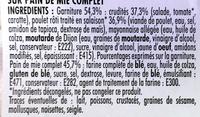 Poulet rôti Crudités Maxi - Ingrédients - fr