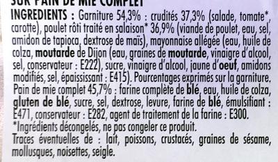 Poulet rôti Crudités Maxi - Ingrédients