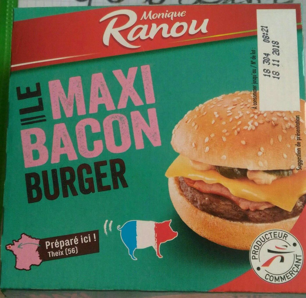 Le Maxi Bacon Burger - Product - fr