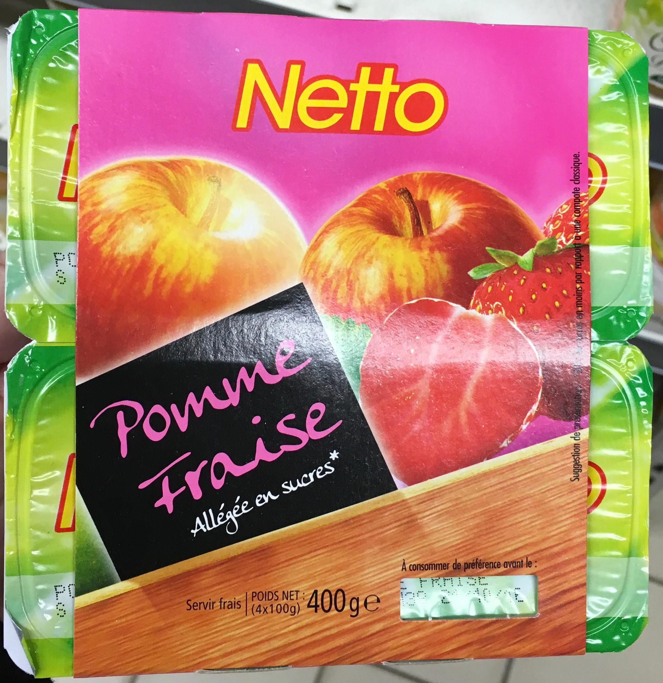 dessert de fruits pomme fraise - Product