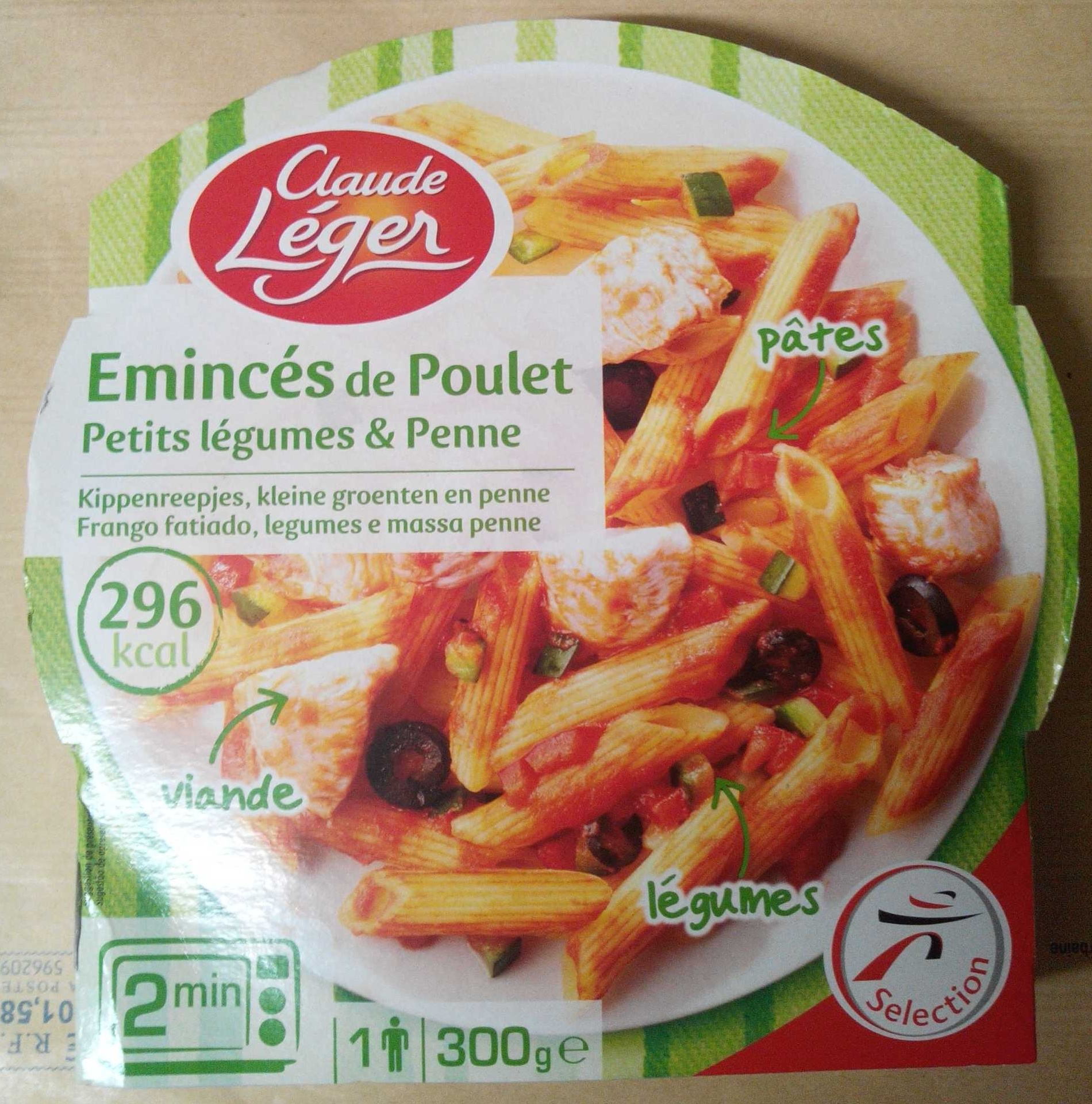 Émincés de Poulet, Petits légumes & Penne - Produit - fr