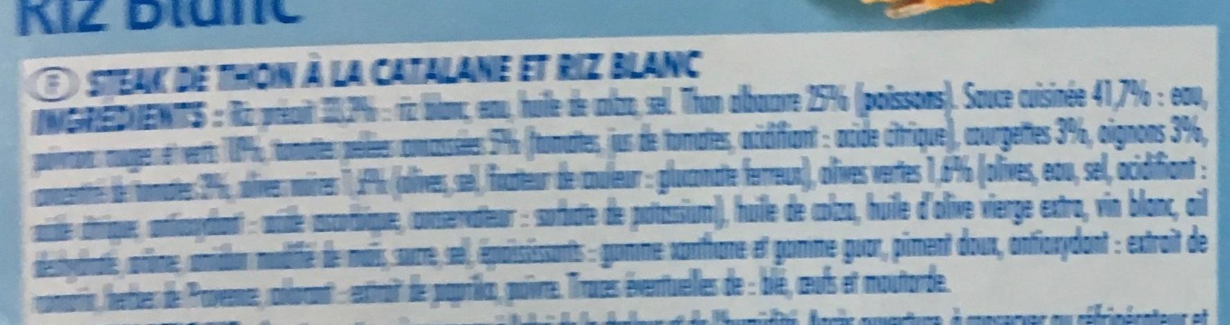 Steak de Thon à la Catalane Riz Blanc - Ingrédients - fr