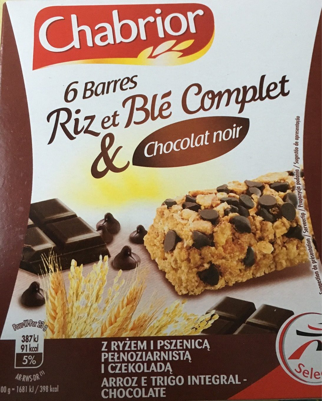 Barre Céréales Chocolat Noir - Produit