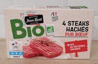 Steaks hachés pur bœuf bio 15% mg - Product - fr