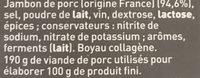 Le Mathurin - Ingrédients