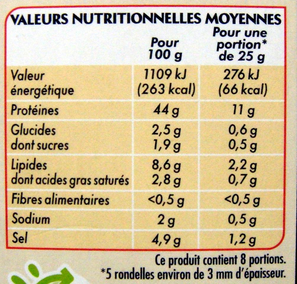 Le Mathurin - Informations nutritionnelles - fr