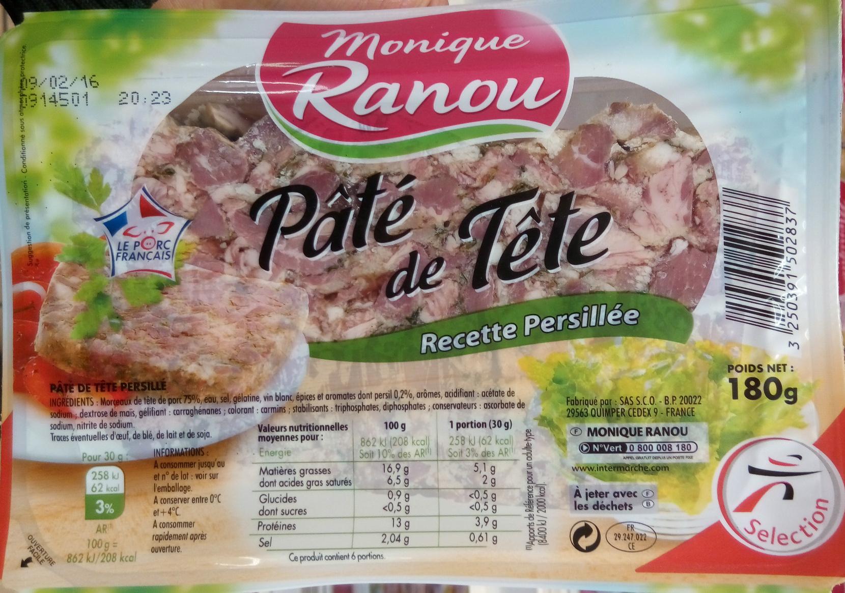 Pâté de Tête recette persillée - Product - fr