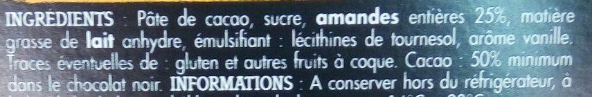 Noir Amandes Entières - Ingredients - fr