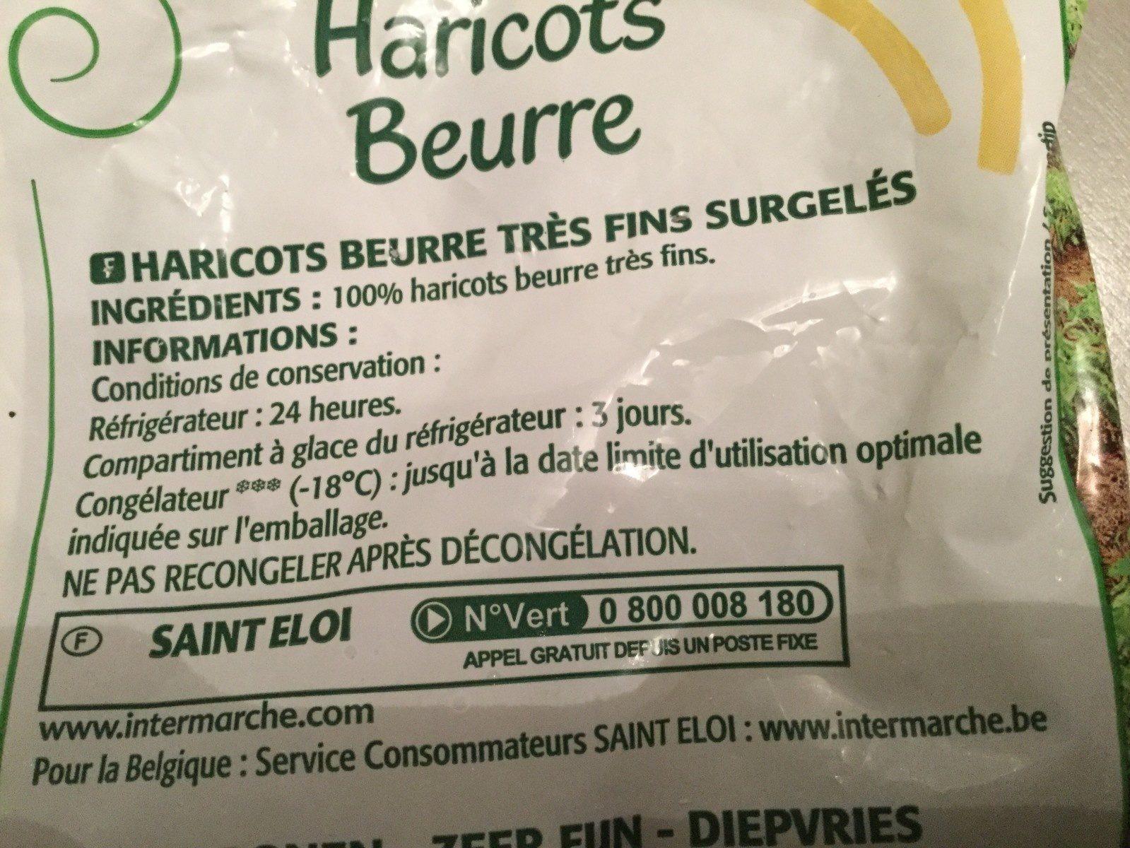 Haricots beurre très fins - Ingredienti - fr