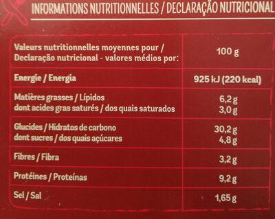 Maxi Moelleuse Royale - Voedingswaarden - fr