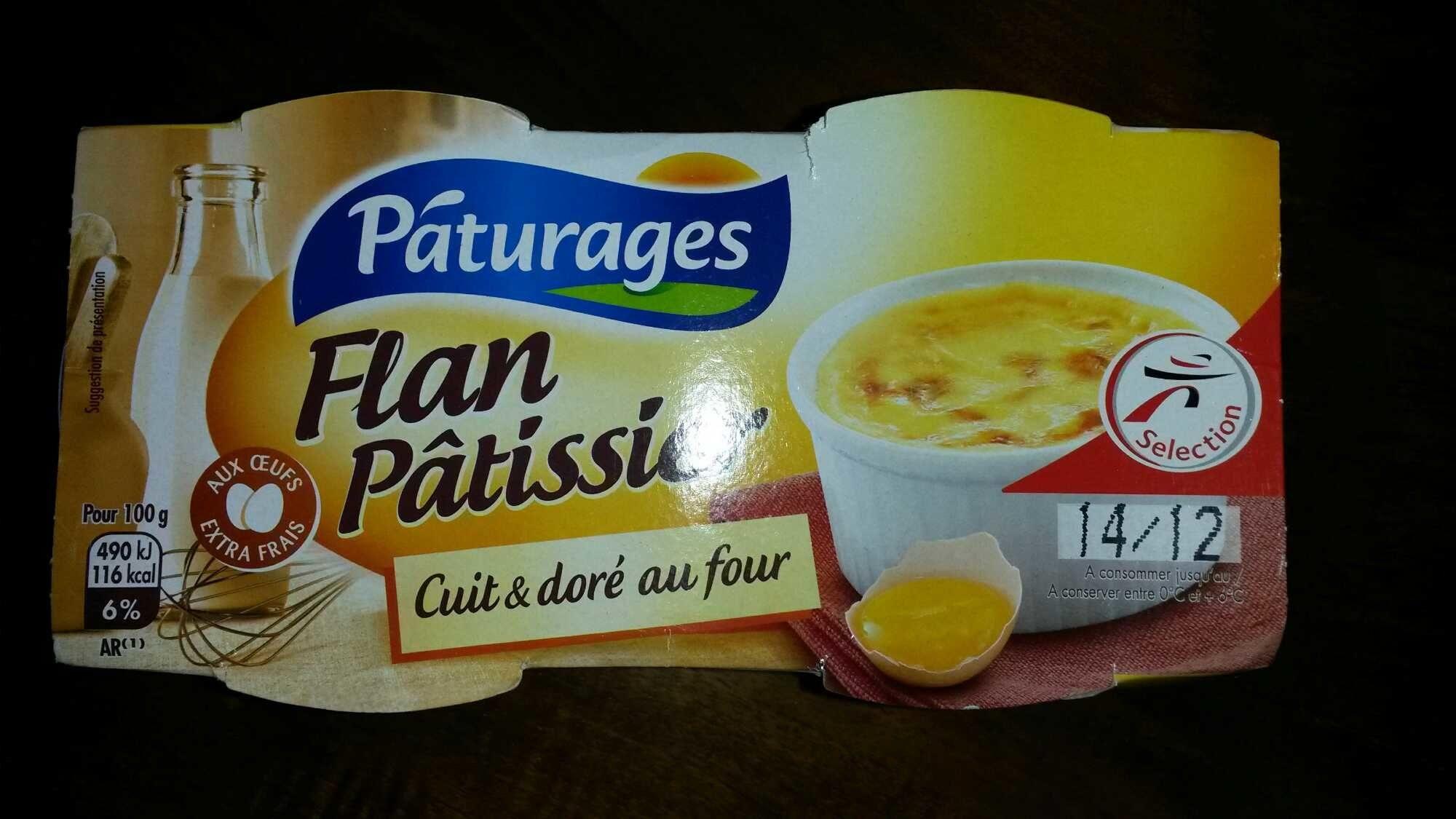 Flan Pâtissier - Cuit & doré au four - Product