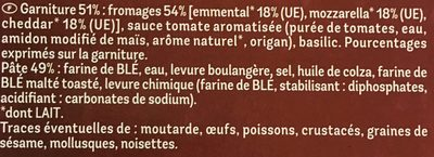 Maxi Moelleuse 4 Fromages - Ingrédients - fr