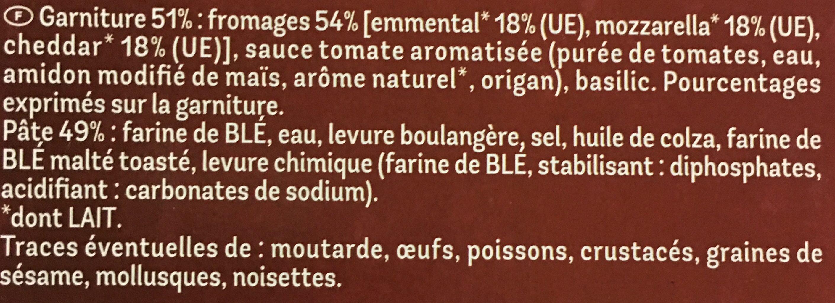 Maxi Moelleuse 4 Fromages - Ingrédients - fr