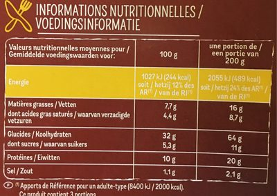 Maxi Moelleuse 4 Fromages - Informations nutritionnelles - fr
