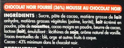 Noir Mousse - Ingrediënten - fr