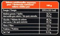 Noir Mousse - Voedingswaarden - fr