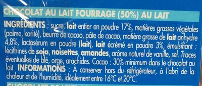 Délice de lait - Ingrédients