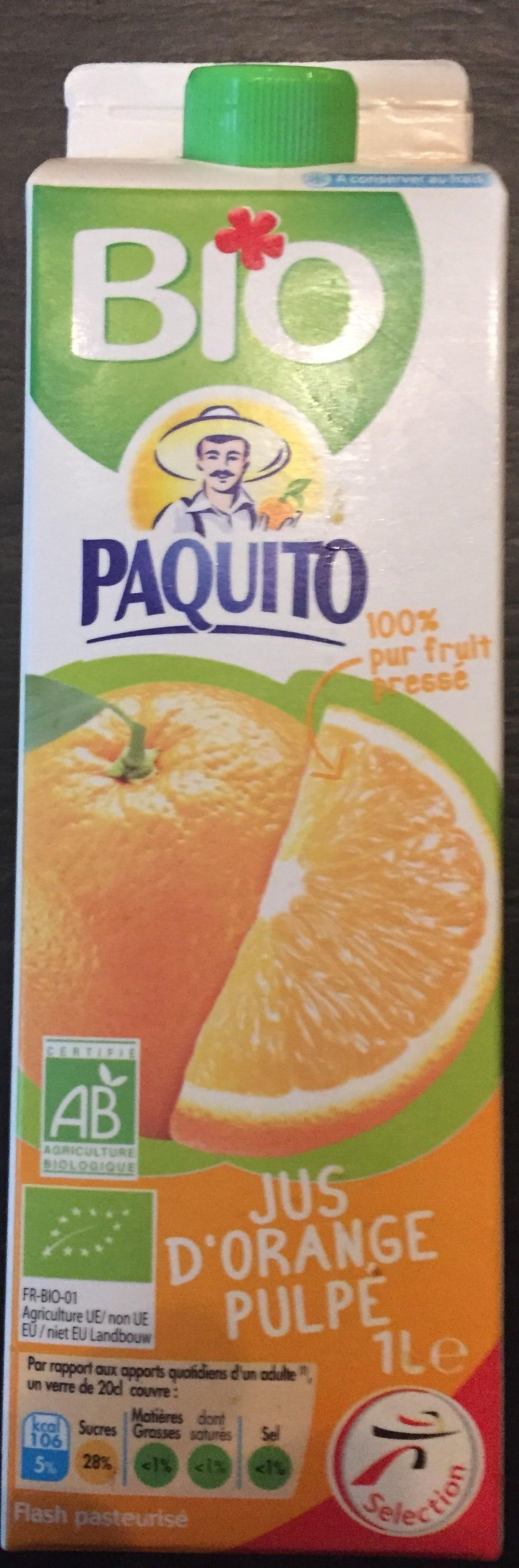 Jus d'orange pulpé - Produit