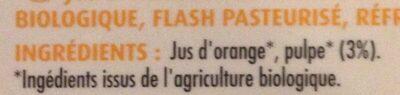 Jus d'orange pulpé - Ingrédients