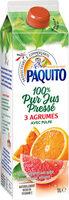 100% Pur Jus Pressé 3 AGRUMES AVEC PULPE - Product - fr